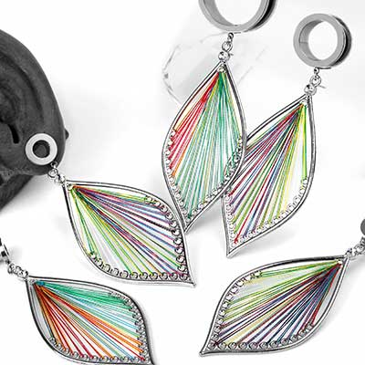 Dangling Rainbow Woven Feather Eyelets