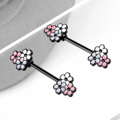 Cherry Blossom Nipple Barbell