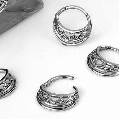 Steel Filigree Oval Clicker