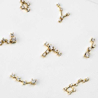 14K Gold Constellation Threadless End