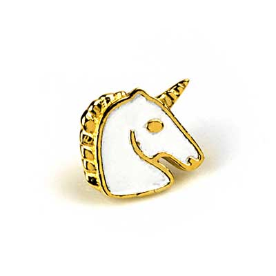 14K Gold Unicorn Threadless End