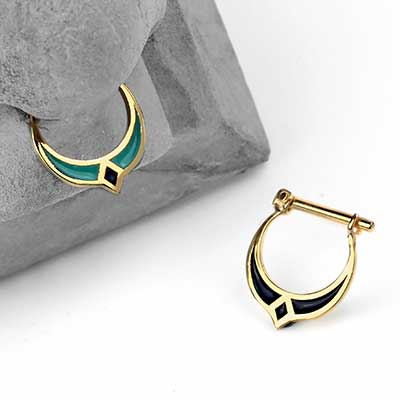 14k Gold Luna Septum Clicker