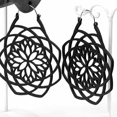 Black Mandala Earrings