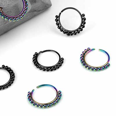 Beaded Seamless Ring