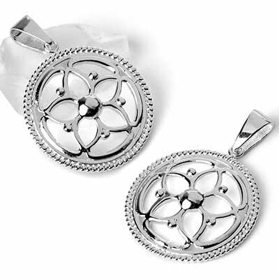 Silver Petunia Pendant
