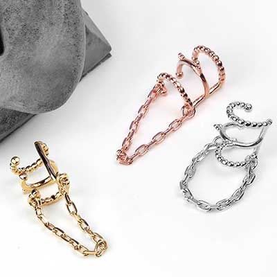 Chained Love Ear Cuff