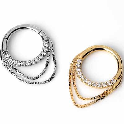 14K Gold Tempeste Septum Clicker