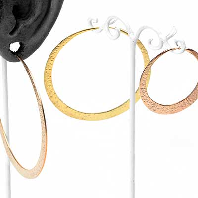 Satin Textured Flat Hoops