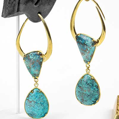 Solid Brass India Design with Chrysacolla