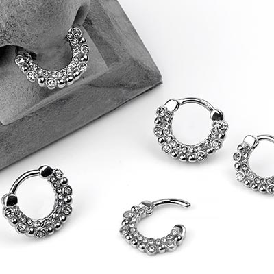 Steel Gemmed Bubble Septum Clicker