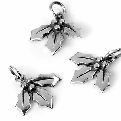 Silver Holly Berries Pendant