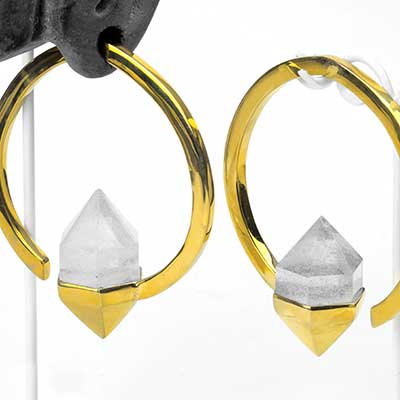 Brass Mystic Weights with Crystal Quartz