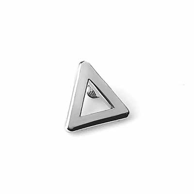 14K Gold Open Triangle Internally Threaded End