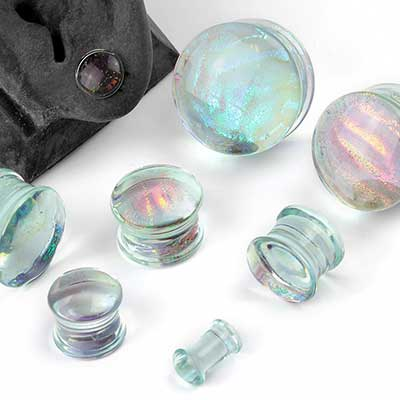 Double Flare Glass Dichro Plugs
