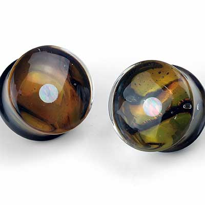 Pyrex Glass Opal Gaia Plugs