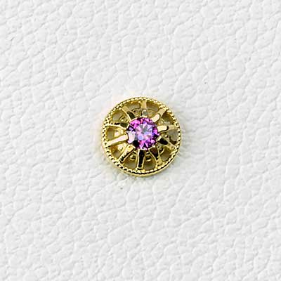 18k Gold Mia Threadless End
