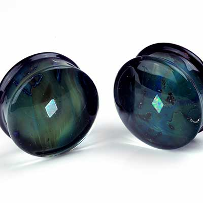 Pyrex Glass Diamond Opal Gaia Plugs