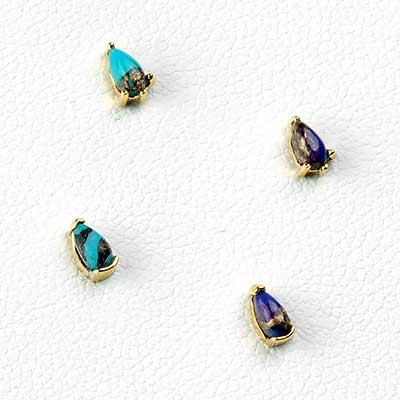 14K Gold Tulsi Threadless End