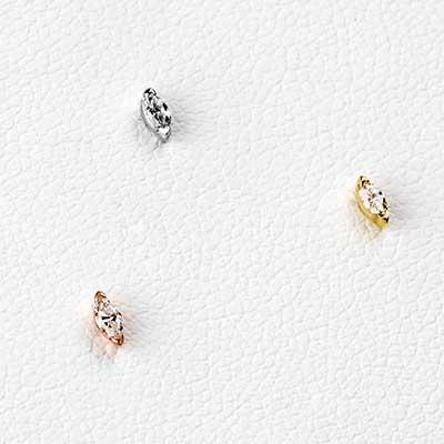 Solid 14k Gold Zuri Threadless End with Genuine Diamond