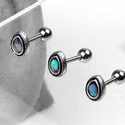 Abalone Shell Teardrop Barbell