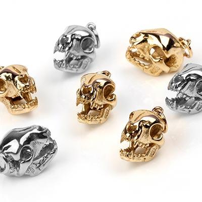 Silver Cat Skull Pendant