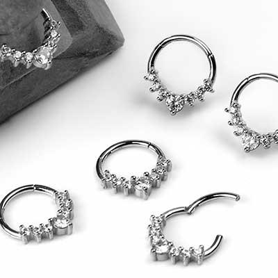 Seven Gem Clicker Ring