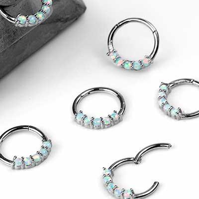 Prong Set Opal Clicker
