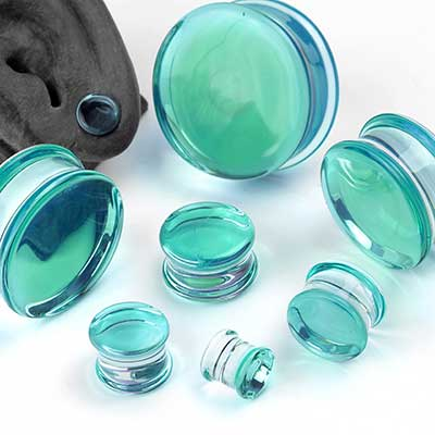 Pyrex Glass Caribbean Blue Colorfront Plugs