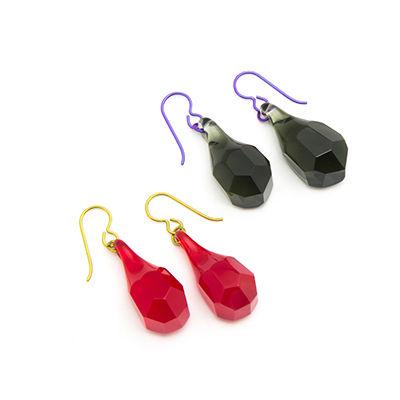 PRE-ORDER Simple Glass Bling Teardrop Earrings
