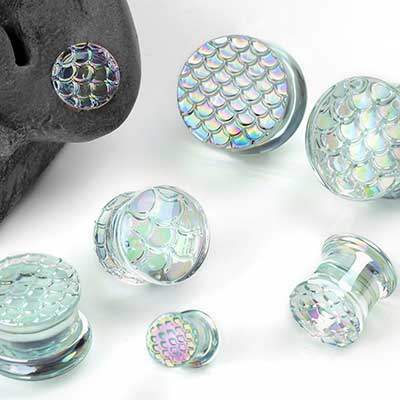 Double Flare Glass Mermaid Plugs