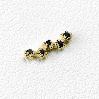 14K Gold Stardust Threadless Ends