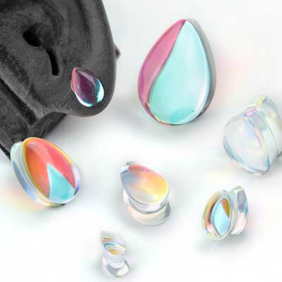 Glass Polaris Teardrop Plugs