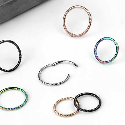 Steel Braided Clicker Ring