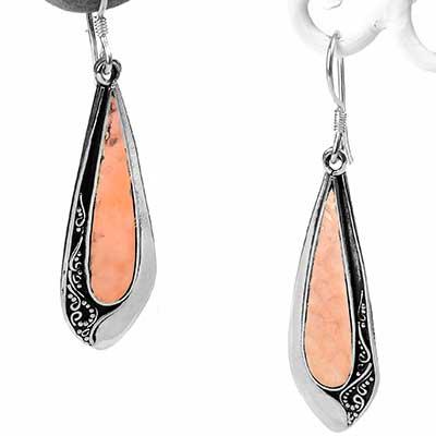 Silver and Copper Teardrop Earrings