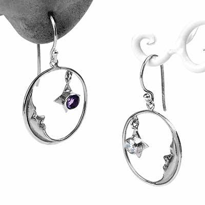 Silver Moonstruck Dangle Earrings