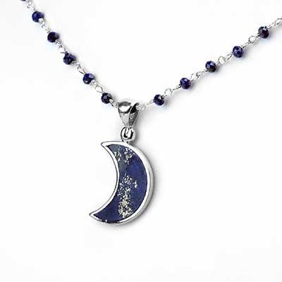 Lapis Lazuli Moon Necklace