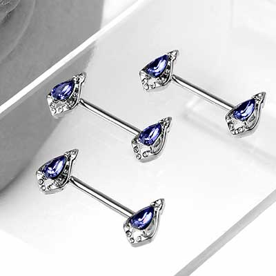 Opulent Teardrop Nipple Barbell