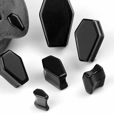 Black Onyx Coffin Plugs