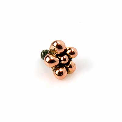 14K Gold Daisy Internally Threaded End