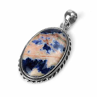Silver and Sodalite Pendant