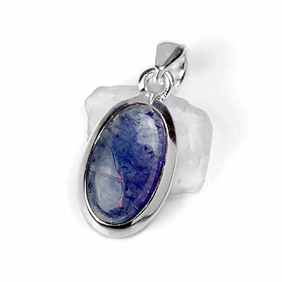 Silver and Tanzanite Pendant