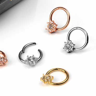 Flower Gem Septum Clicker