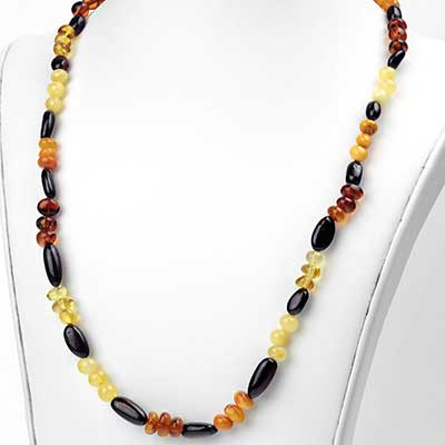 Mixed Amber Bead Necklace