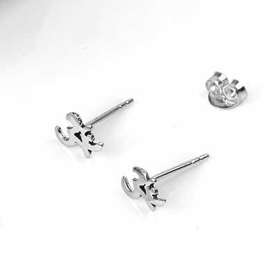 Silver Aum Stud Earrings