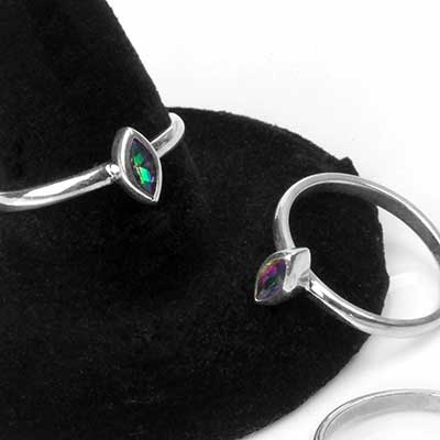 Sterling Silver Marquise Gem Ring