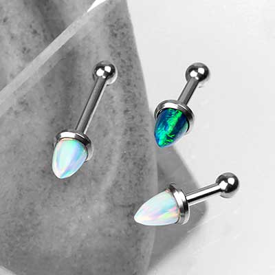 Synthetic Opal Bullet Barbell