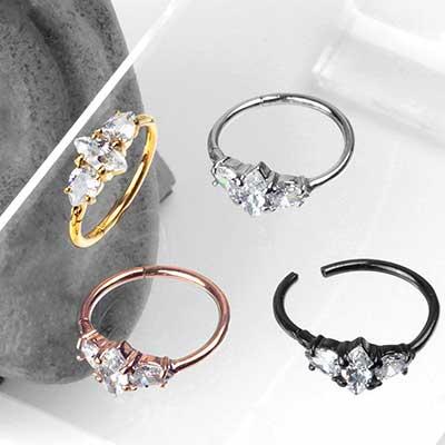 Side Set Opulent Gem Clicker Ring