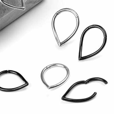 Steel Teardrop Septum Clicker