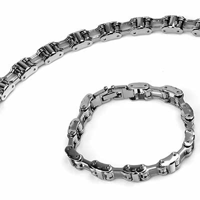 Steel Bicycle Chain Bracelet