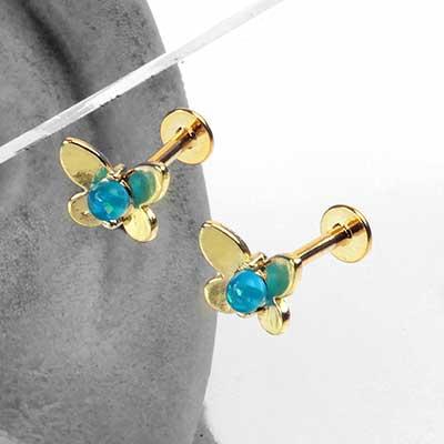 Golden Butterfly Labret